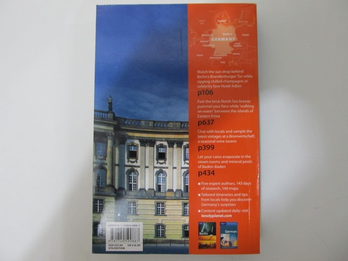 livro em inglês - lonely planet germany (country guide)