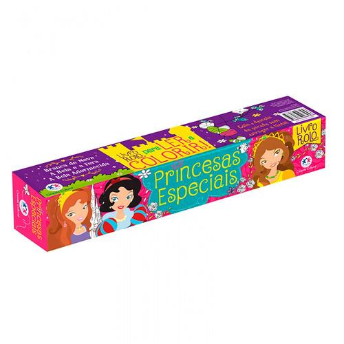 livro em rolo para colorir - disney - princesas especiais -