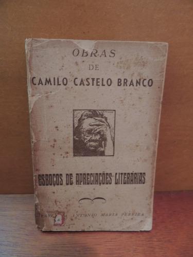 livro esboços apreciações literárias camilo castelo branco