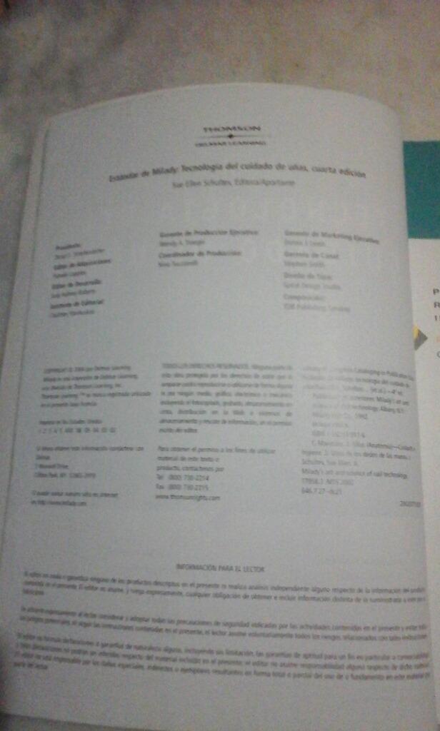Livro Estádar De Milady Tecnología Del Cuidado De Uñas - R$ 55,00 em ...