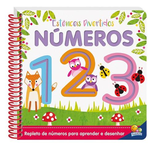 livro estênceis divertidos números 1,2,3 todolivro