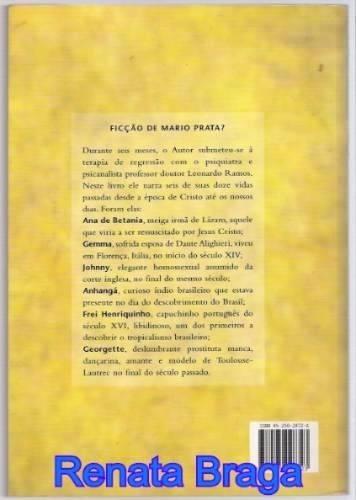 livro ficção de mario prata minhas vidas passadas (a limpo)