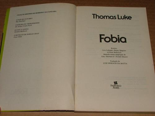 livro fobia thomas luke  frete de r$7,00