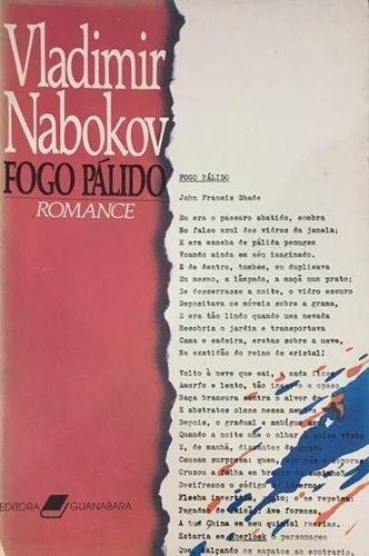 Livro Fogo Pálido Vladimir Nabokov - R$ 20,00 em Mercado Livre