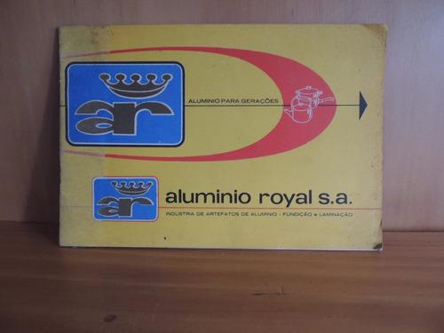 livro folheto produtos aluminio royal s a porto alegre 1967