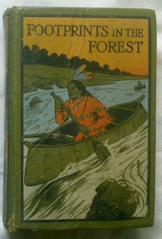 livro footprints in the forest by edwards s. ellis - 1903.