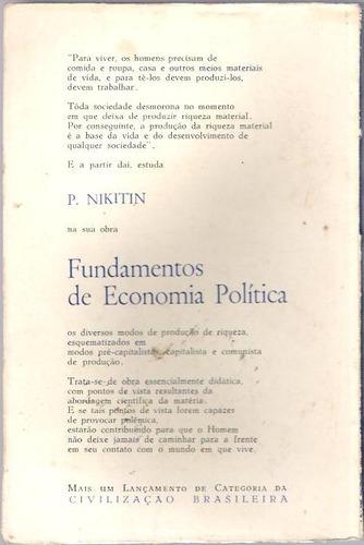 livro fundamentos de economia politica p. nikitin