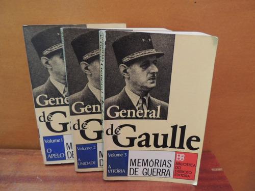 livro general de gaulle memórias de guerra 3 volumes