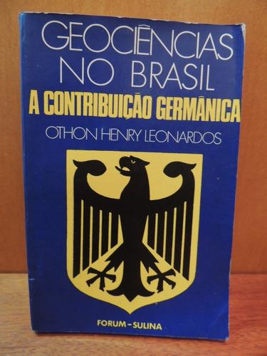 livro geociências no brasil a contribuição germânica othon