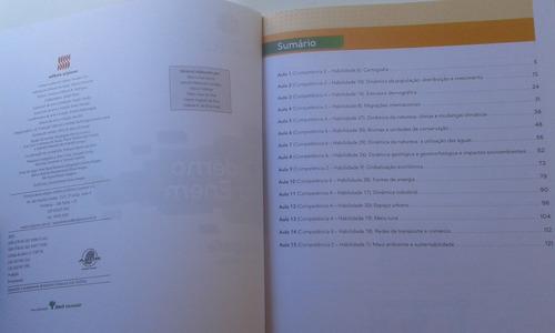 livro geografia ensino médio caderno do enem projeto múltipl