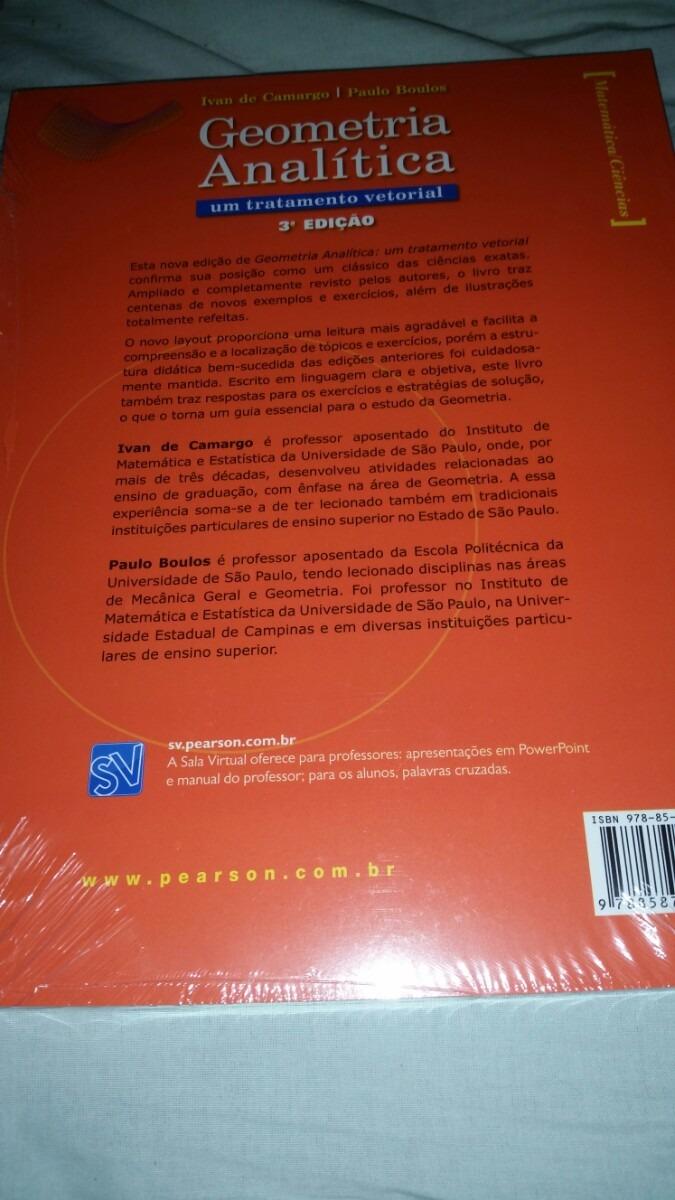 Boulos Geometria Analitica Um Tratamento Vetorial Pdf
