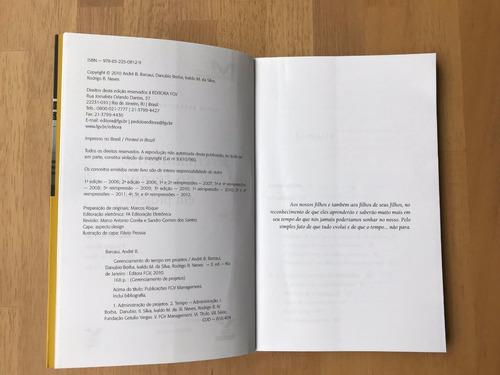 livro gerenciamento do tempo em projetos - andré barcaui