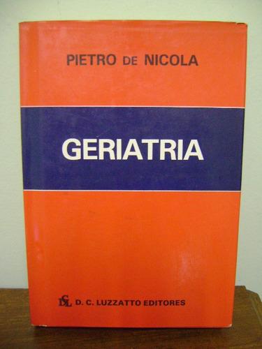 livro geriatria pietro de nicola - 1986
