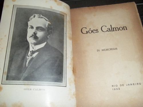 livro goes calmon  in memoriam  afranio peixoto / outros