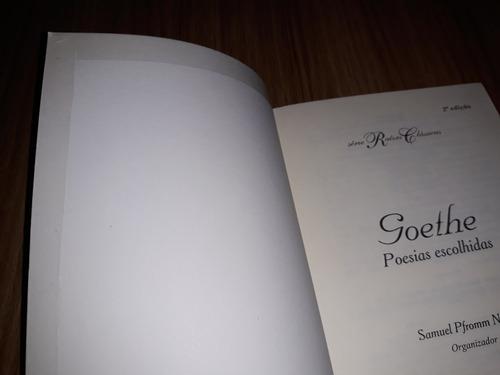 livro goethe: poesias escolhidas (seminovo)