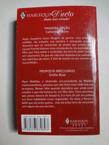 livro harlequin duetos piqueno milagres ed. 14