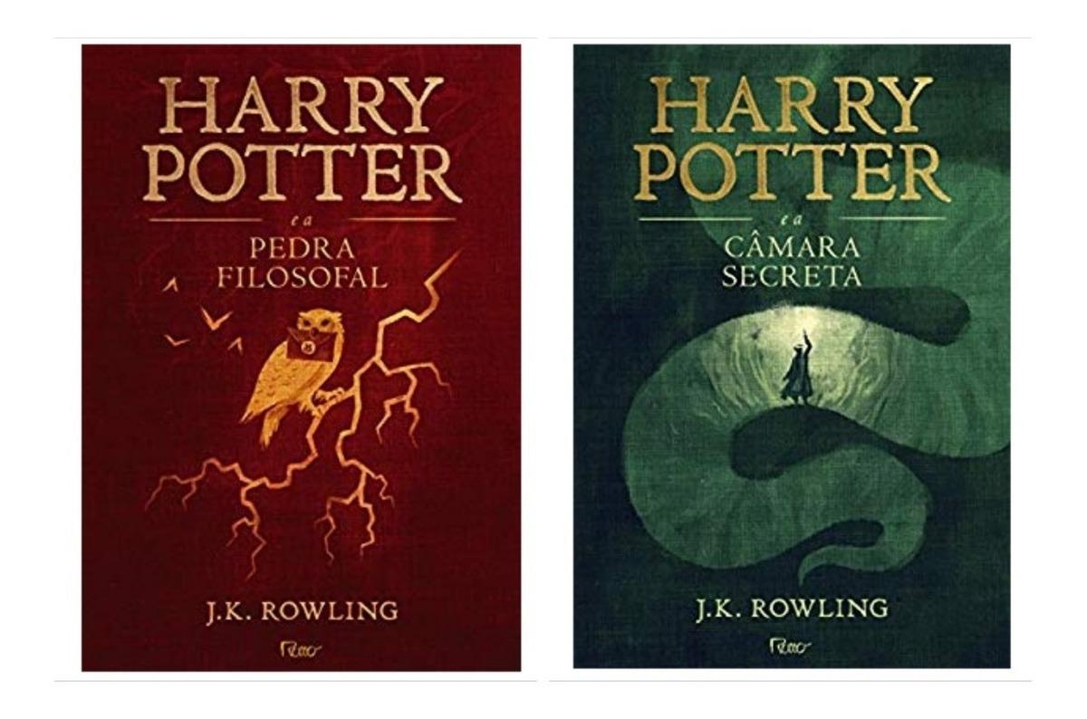 Livro Harry Potter 1 E 2 Capa Dura Novos E Lacrados