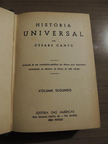 livro história universal volume segundo cesare cantu 1953