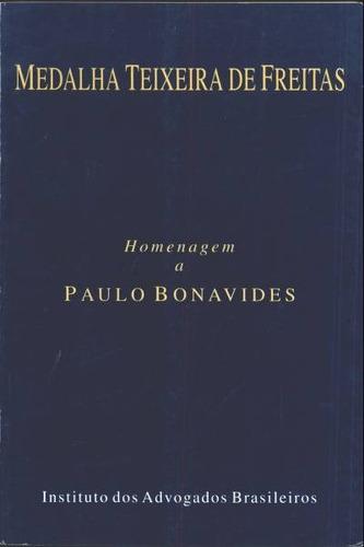 livro homenagem a paulo bonavides medalha teixeira de freita