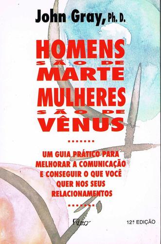 livro homens são de marte mulheres são de vênus - john gray