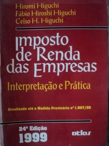 livro - imposto de rendas das empresas - 1989