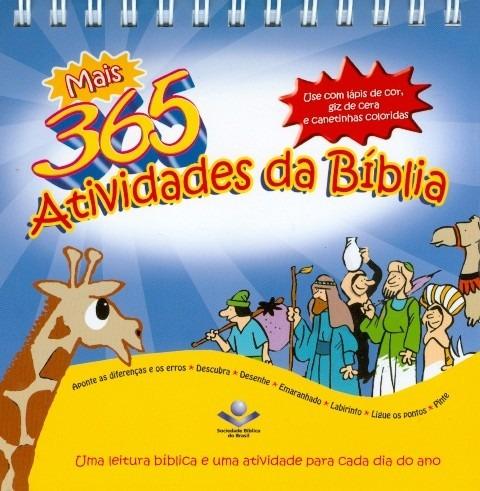 livro infantil - 365 atividades da bíblia - calendário