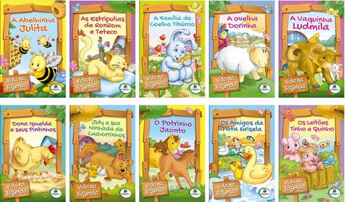 livro infantil a vida na fazenda c/10 unidades