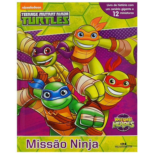 livro infantil - as tartarugas ninja - melhoramentos