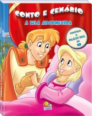 livro infantil conto e cenário - a bela adormecida
