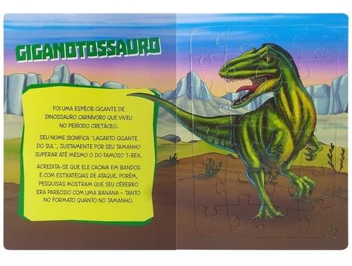 livro infantil em quebra-cabeça dinossauros