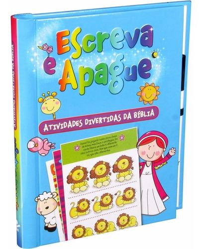 livro infantil escreva e apague atividades da bíblia