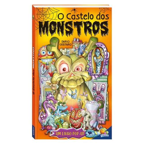 livro infantil - o castelo dos monstros - um livro pop-up -