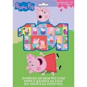 Livro Infantil Peppa Pig Colorindo Com 101 Adesivos