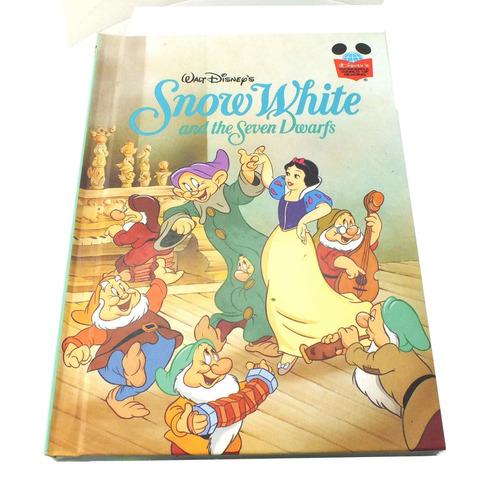 livro infantil snow white and the dwarfs walt disney's b2621