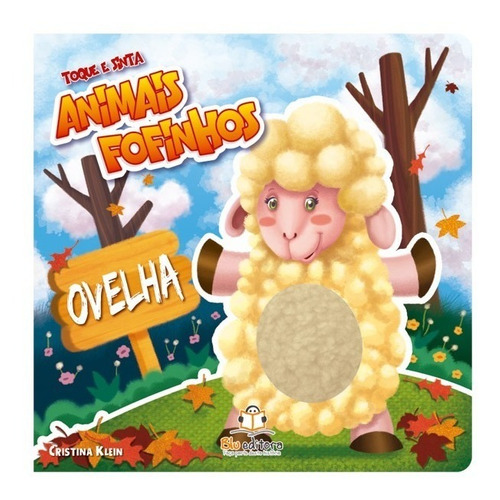 livro infantil toque e sinta animais fofinhos ovelha