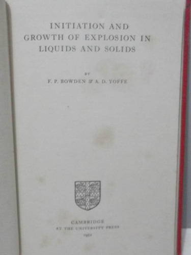 livro initiation  growth of explosion in liquids and solids
