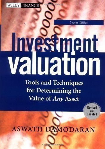 livro investment valuation aswath damodaran