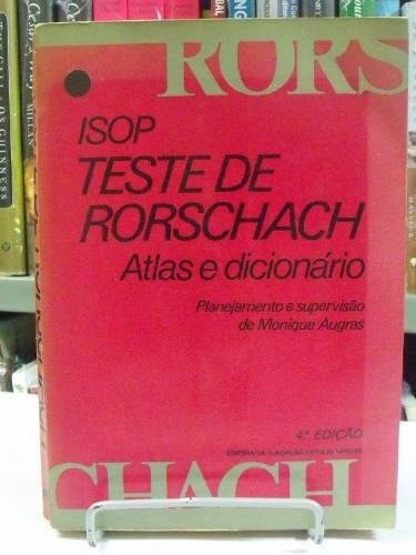 livro - isop teste de rorschach - atlas e dicionário