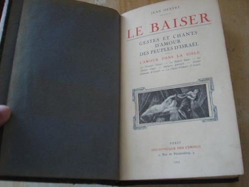 livro jean hervez - le baiser - gestes et chants - história