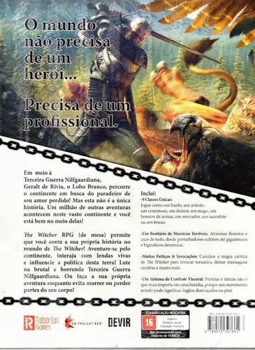 livro jogo the witcher rpg - devir - bonellihq n20