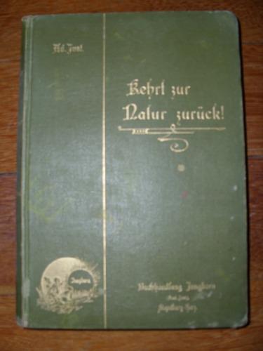 livro kehrt zur natur zurück! - raridade livro antigo alemão