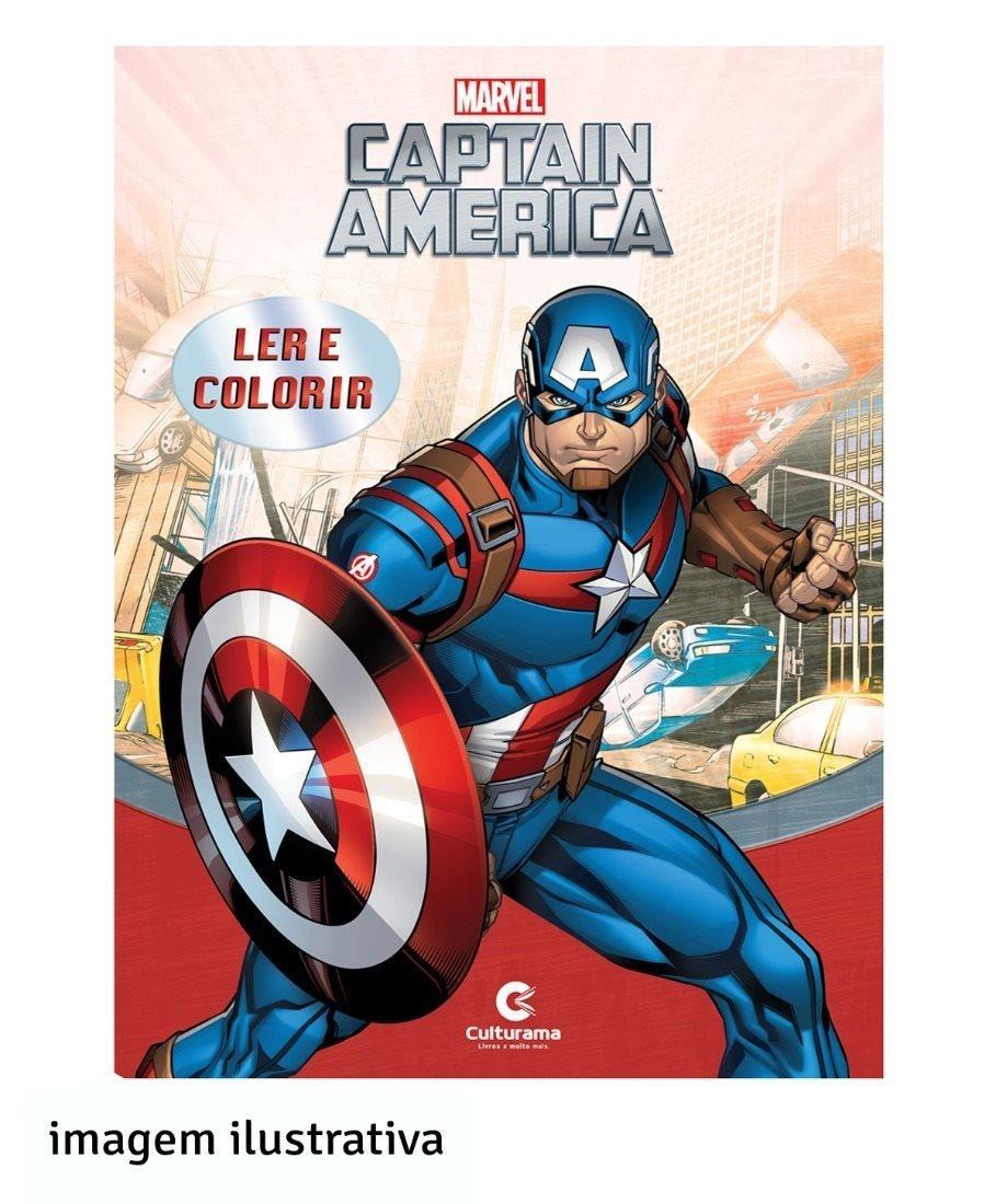 Livro Ler E Colorir Culturama Vingadores Capitao America 1 R