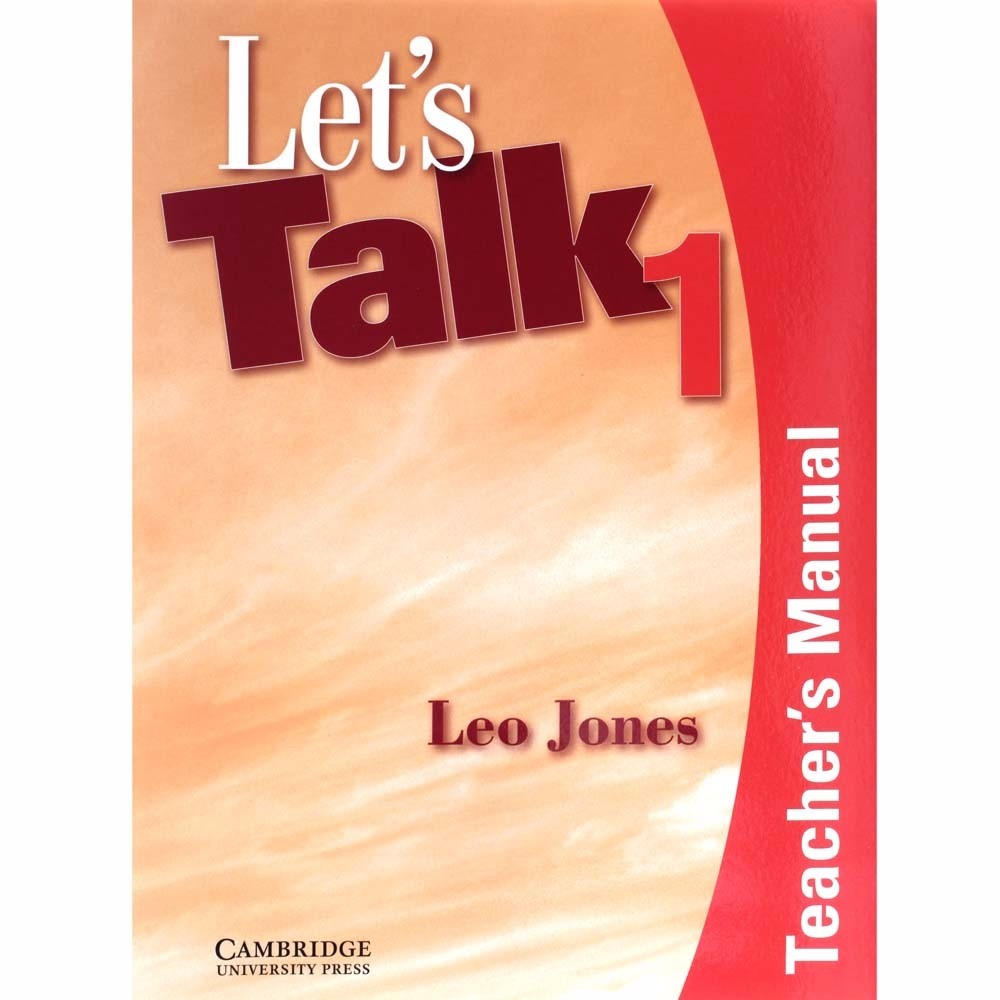livro let's talk 1 teachers manual - leo jones. Carregando zoom.