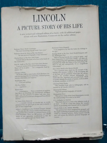 livro lincoln a picture story of his life (importado) usa