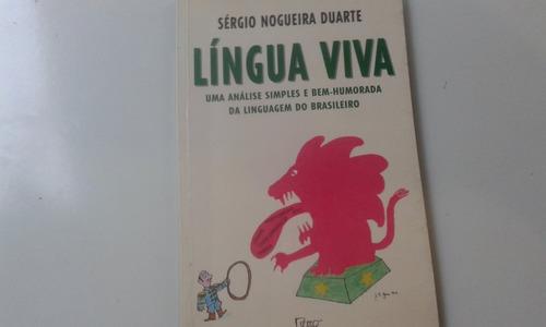 livro - língua viva - sérgio nogueira duarte - jaguar