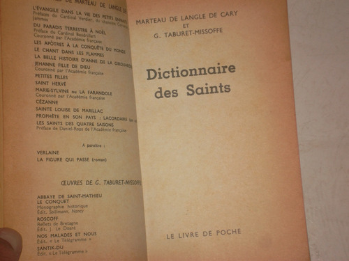 livro - literatura estrangeira -dictionnaire des saints