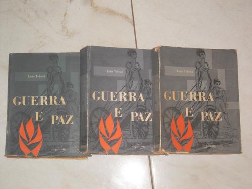 livro - literatura estrangeira - guerra e paz - 3 volumes