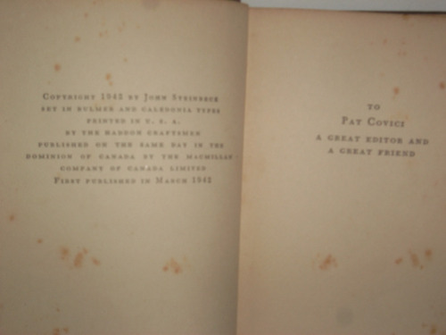 livro - literatura estrangeira (raro) - the moon is down
