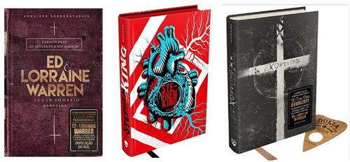 livro lugar sombrio + coração assombrado + exorcismo