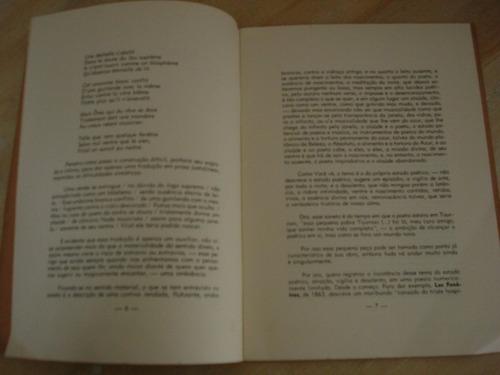 livro - mallarmé - carta a colombo de sousa - 1973